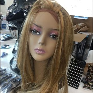 Accessories - Wig long blonde mix Lacefront wig middle part